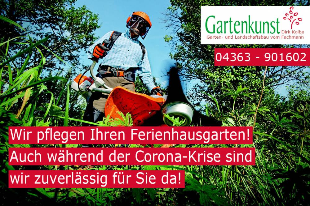Gartenpflege während der Corona-Krise Gartenkunst Kolbe